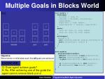 multiple goals in blocks world1
