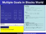 multiple goals in blocks world2