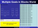 multiple goals in blocks world4