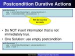 postcondition durative actions