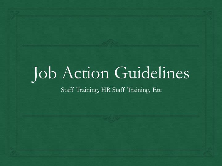 job action guidelines n.