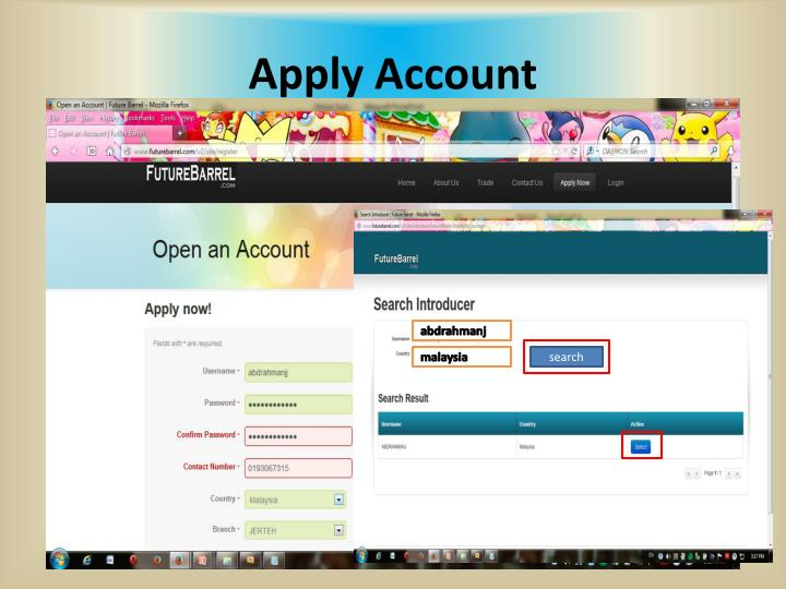 Apply Account