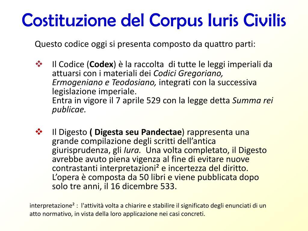 Ppt Diritto Romano E Compilazione Giustinianea Powerpoint