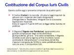 costituzione del corpus iuris civilis