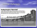german defenses