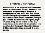 perincian program
