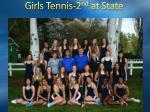 girls tennis 2 nd at state