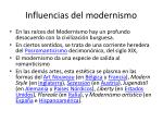 influencias del modernismo