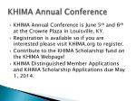 khima annual conference