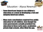 education alyssa newman