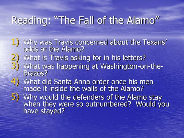 "Reading: ""The Fall of the Alamo"""