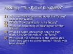 reading the fall of the alamo