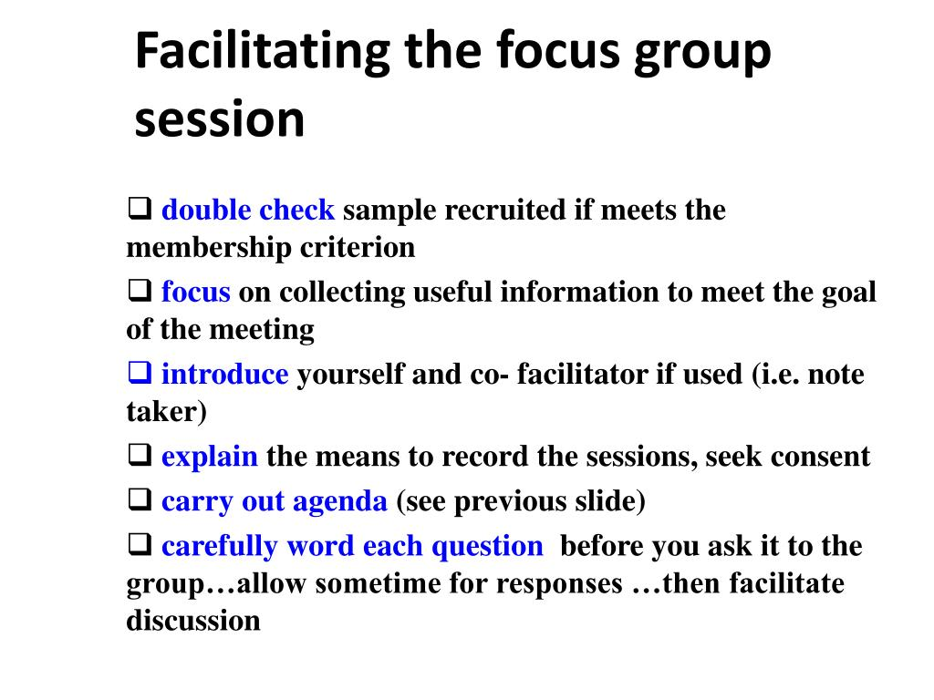PPT - Conducting Focus groups PowerPoint Presentation - ID