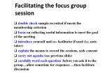 facilitating the focus group session