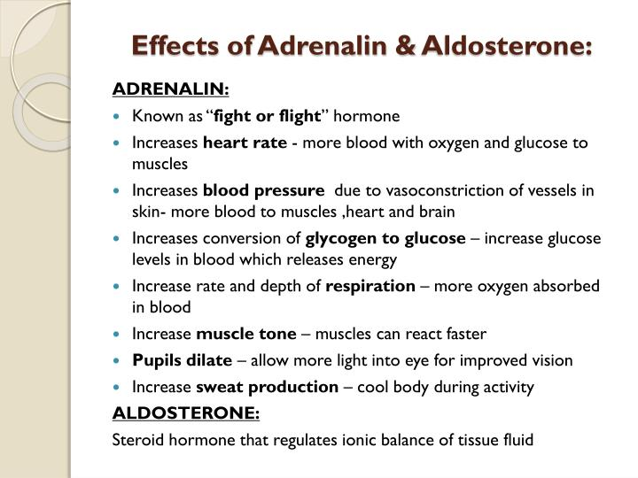 Effects of Adrenalin &