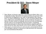 president ceo steve meyer