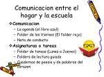 comunicacion entre el hogar y la escuela
