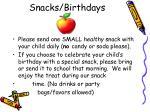 snacks birthdays