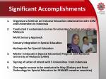 significant accomplishments
