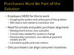 purchasers must be part of the solution