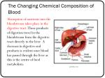 the changing chemical composition of blood1