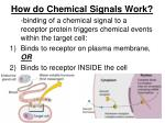 how do chemical signals work1