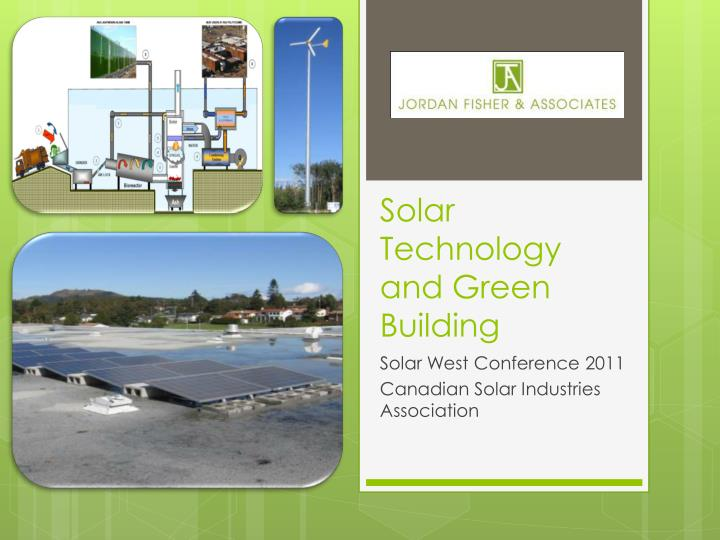 solar technology and green building n.