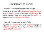 definitions of games