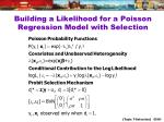 building a likelihood for a poisson regression model with selection