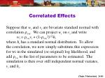correlated effects