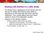dealing with attrition in a qol study