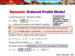 dynamic ordered probit model