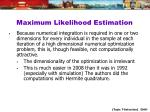 maximum likelihood estimation1