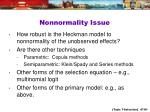 nonnormality issue