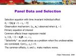 panel data and selection