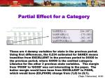 partial effect for a category