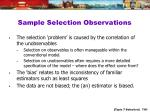 sample selection observations