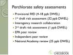 perchlorate safety assessments