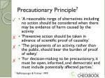 precautionary principle 71