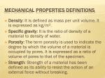 mechanical properties definitions