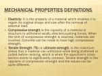 mechanical properties definitions1