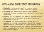 mechanical properties definitions2