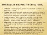 mechanical properties definitions3
