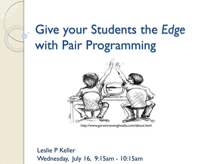give your students the edge with pair programming n.