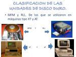 clasificacion de las unidades de disco duro