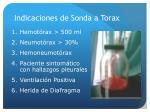 indicaciones de sonda a torax