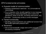 dtn fundamental principles
