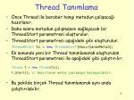 thread tan mlama