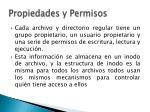 propiedades y permisos