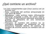qu contiene un archivo